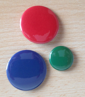 38mm badges in a variety colours