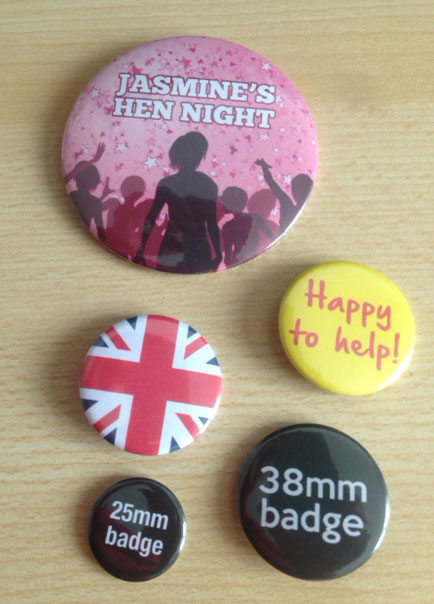 38mm button badges made to your own design