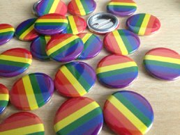 Gay Pride Rainbow Badges