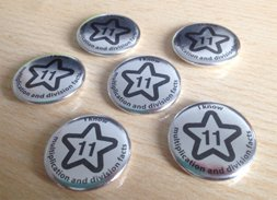 Times Table Maths Badges