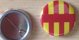 25mm Northumberland button badges