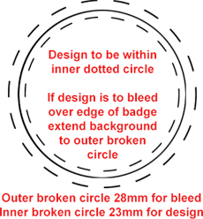 25mm Badge Template