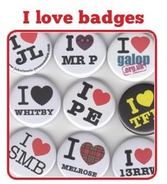 I Love Button Badges