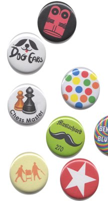 Button Badges Actual Samples