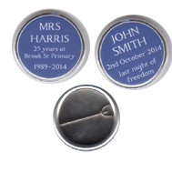 Blue Plaque Style Badges