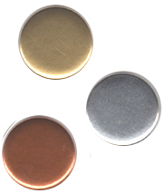 Gold Silver Bronze Plain Button Badges