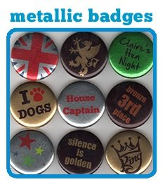 Metalic Finish Badges