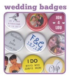 Wedding Button Badges for your big day