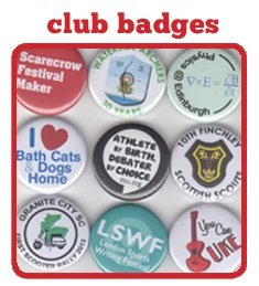 Button Badges for clubs and organisations