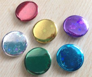 Holographic Button Badges